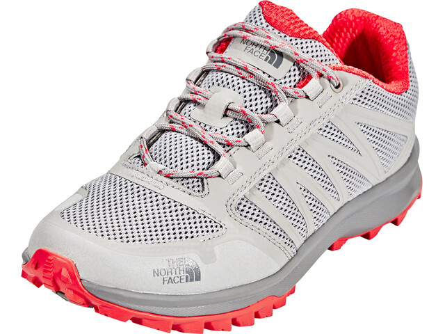 The North Face Litewave Fastpack Shoes Women Foil Grey/Cayenne Red
